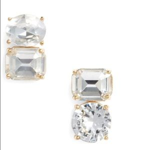 NWT Kate Spade Double Drop Asymmetrical Earrings